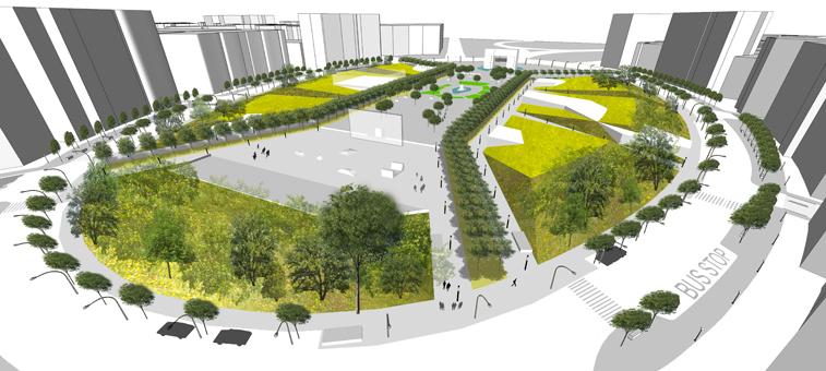 GAP(grand army plaza)urban planning - aotu architecture office ltd.